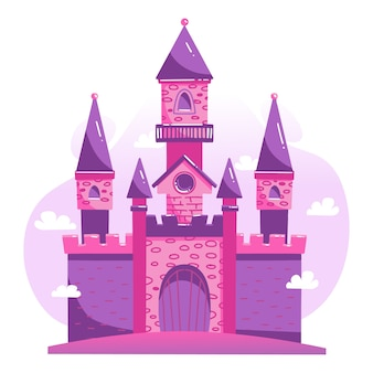 Conceito de ilustração com castelo
