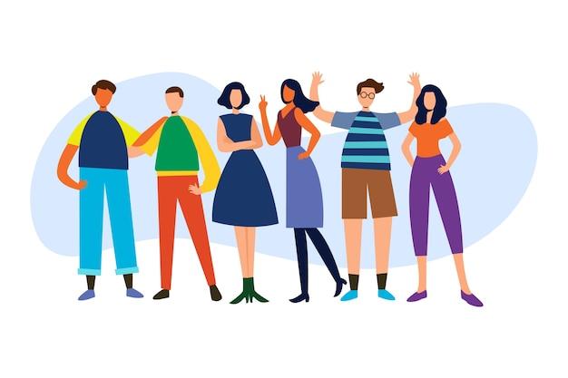 Conceito de ilustração com grupo de pessoas
