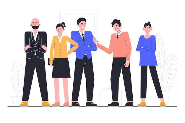 Conceito de ilustração com pessoas de negócios