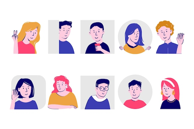 Conceito de ilustração com pessoas espiando