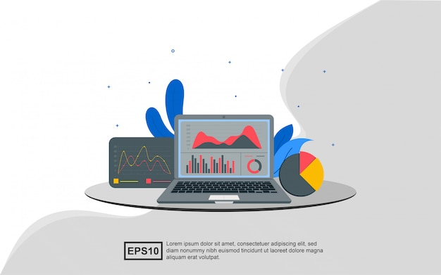 Conceito de ilustração de análise de dados