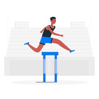 Conceito de ilustração de atletismo