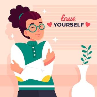 Conceito de ilustração de auto-cuidado