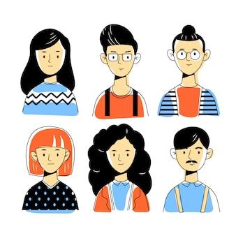 Conceito de ilustração de avatares de pessoas