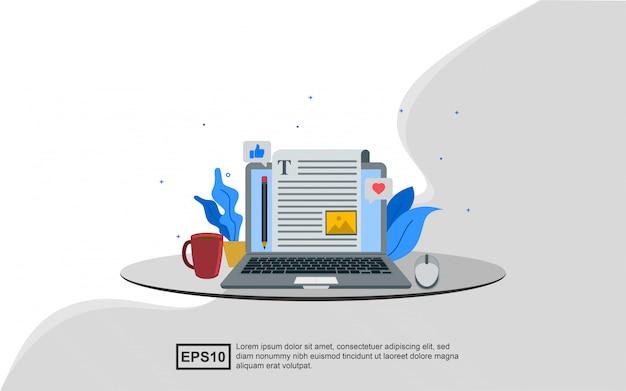 Conceito de ilustração de blogs