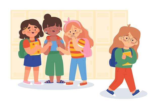 Conceito de ilustração de bullying