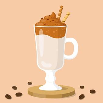Conceito de ilustração de café dalgona Vetor grátis