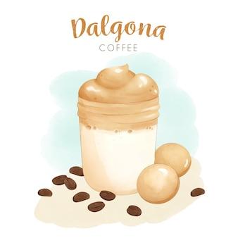 Conceito de ilustração de café dalgona