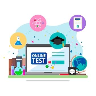 Conceito de ilustração de certificação on-line