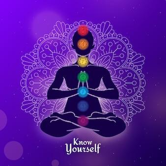 Conceito de ilustração de chakras