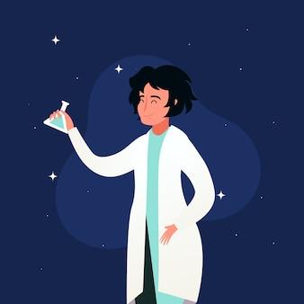 Conceito de ilustração de cientista feminina