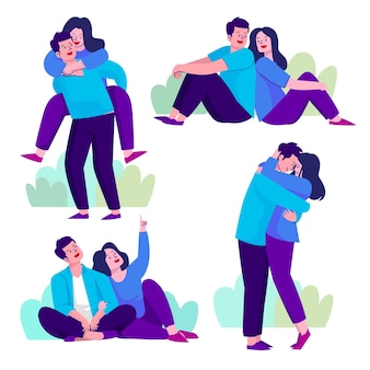 Conceito de ilustração de coleção de casal