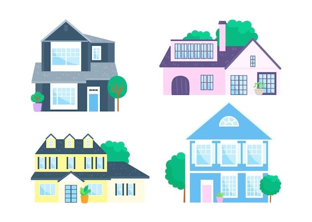 Conceito de ilustração de coleção doméstica