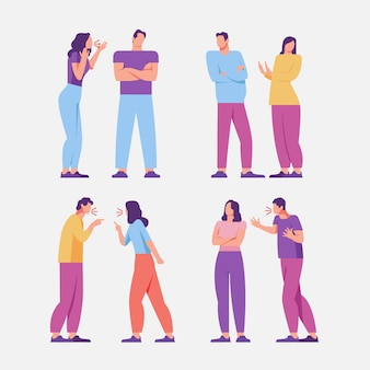 Conceito de ilustração de conflitos de casal