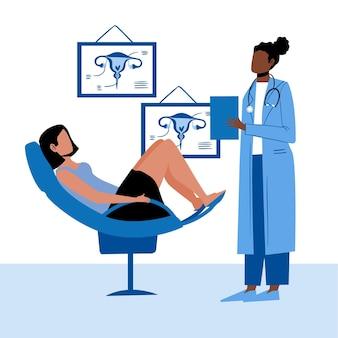 Conceito de ilustração de consulta de ginecologia