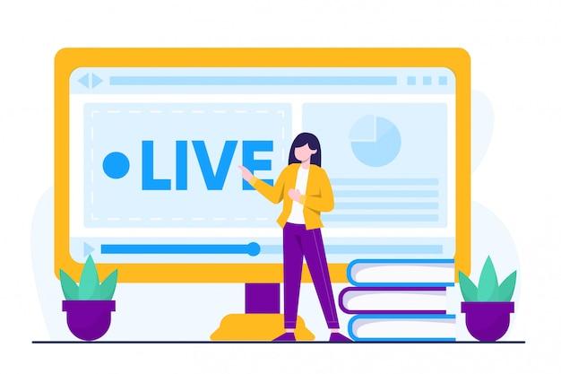 Conceito de ilustração de cursos on-line
