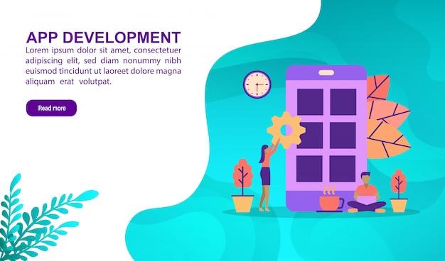 Conceito de ilustração de desenvolvimento de aplicativos