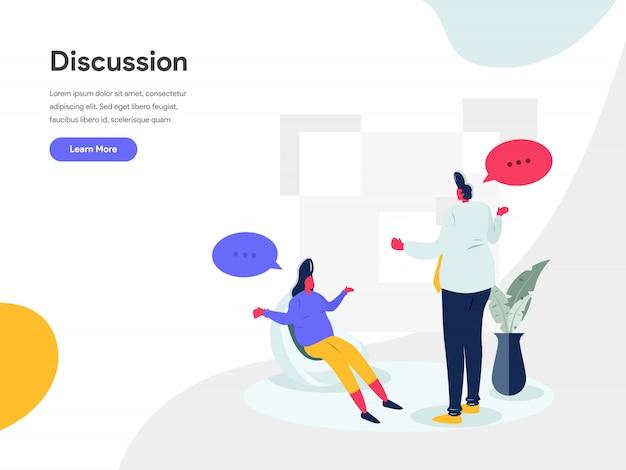 Conceito de ilustração de discussão
