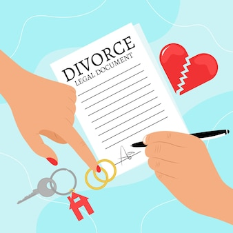 Conceito de ilustração de divórcio
