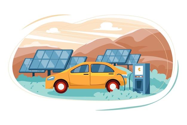 Conceito de ilustração de energia renovável