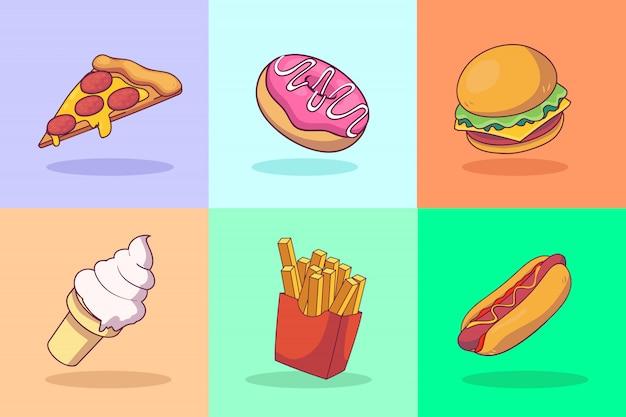 Conceito de ilustração de fast-food