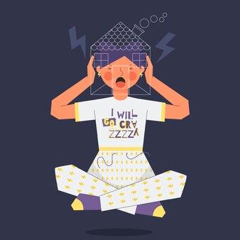 Conceito de ilustração de febre de cabine