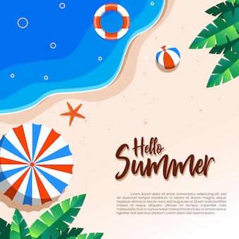 Conceito de ilustração de férias de verão