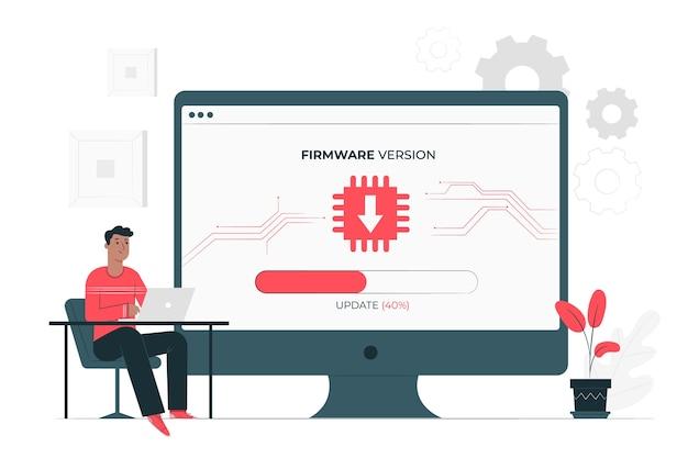 Conceito de ilustração de firmware