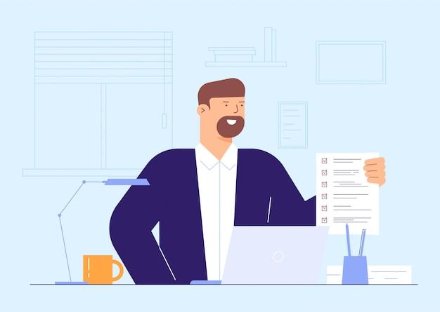Conceito de ilustração de formulário cheio de homem de negócios