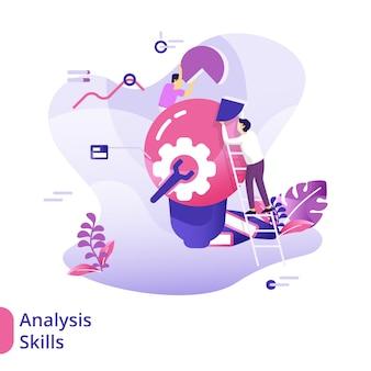 Conceito de ilustração de habilidades de análise de página de destino