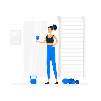 Conceito de ilustração de hábito saudável