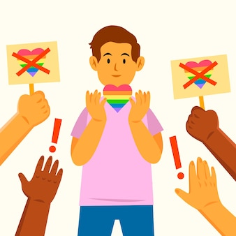 Conceito de ilustração de homofobia