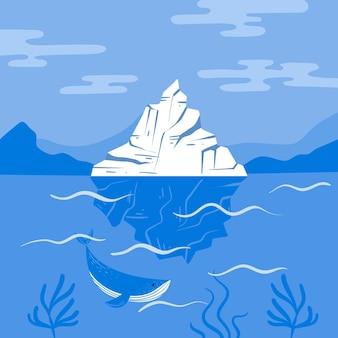 Conceito de ilustração de iceberg