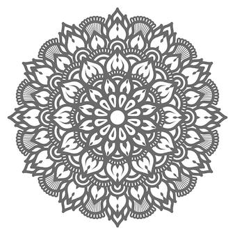 Conceito de ilustração de mandala de círculo redondo decorativo luxuoso