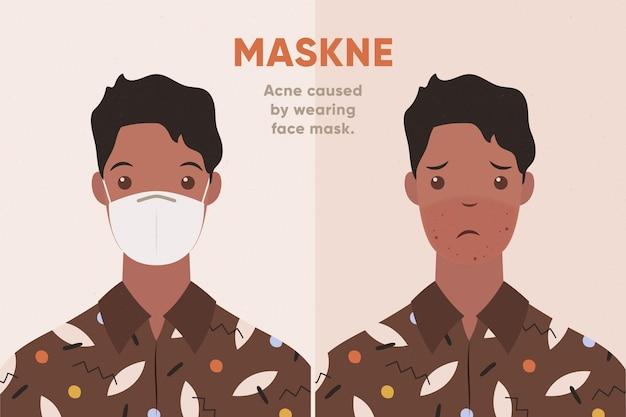 Conceito de ilustração de máscara facial