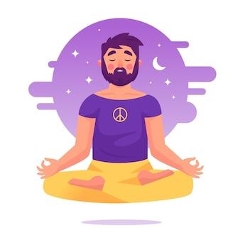 Conceito de ilustração de meditação