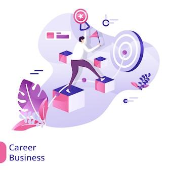 Conceito de ilustração de negócios de carreira na página de destino