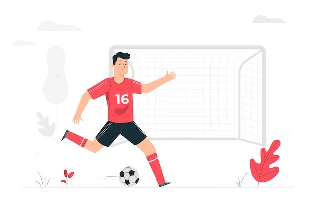 Conceito de ilustração de objetivo