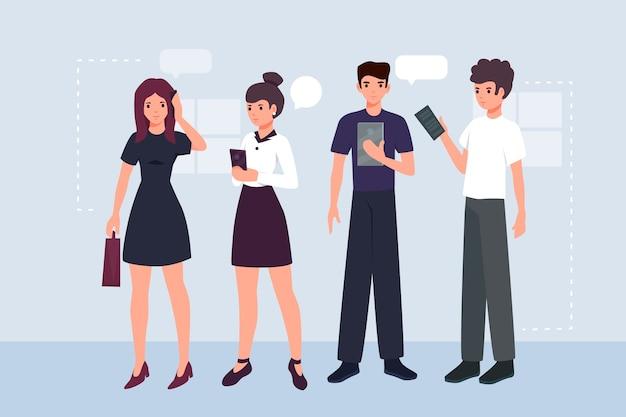 Conceito de ilustração de pessoas de negócios