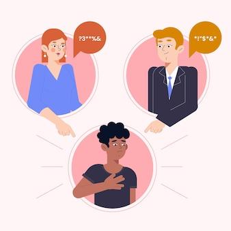 Conceito de ilustração de racismo