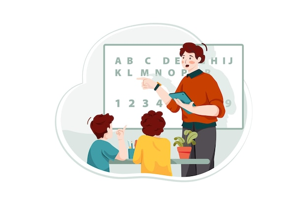 Conceito de ilustração de sala de aula