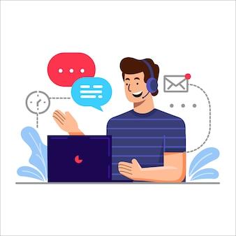 Conceito de ilustração de serviço ao cliente