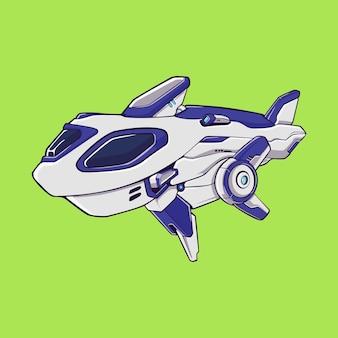 Conceito de ilustração de submarino futurista