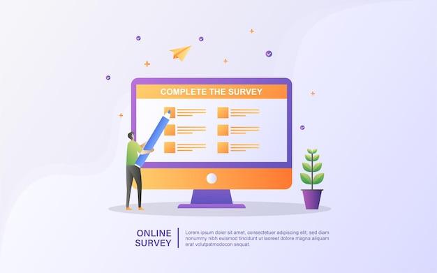 Conceito de ilustração de suporte online