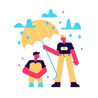 Conceito de ilustração de suporte para pessoas sob estresse
