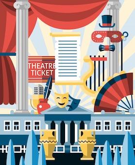 Conceito de ilustração de teatro