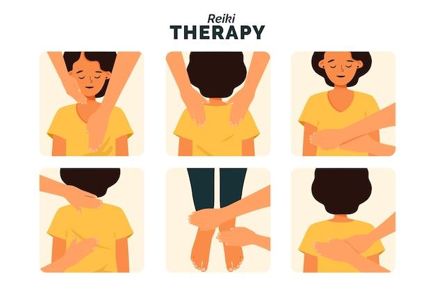 Conceito de ilustração de terapia de reiki