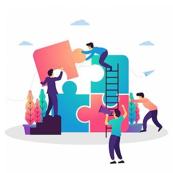 Conceito de ilustração de trabalho de equipe