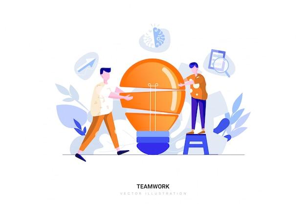 Conceito de ilustração de trabalho em equipe