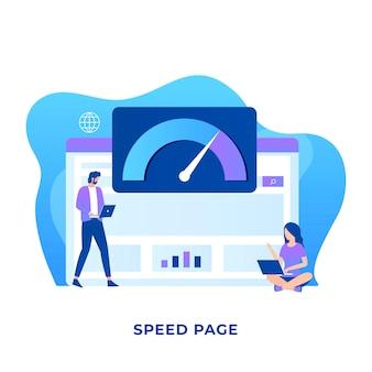 Conceito de ilustração de velocidade de página